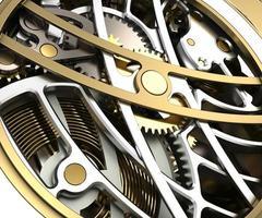 relógio mecânico fechar design 3d