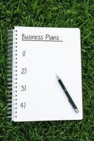 Planos de negócios foto