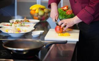 preparando comida foto