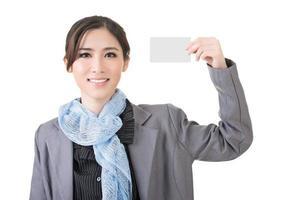 cartão branco em branco foto