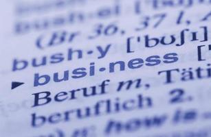 dicionário de negócios foto