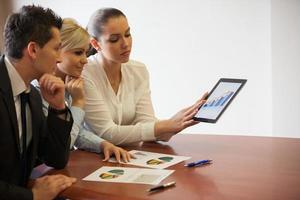 touchpad de negócios foto