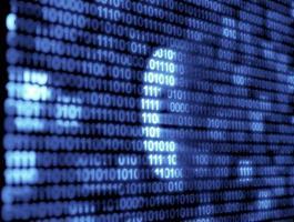 tecnologia de código binário foto