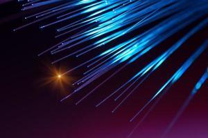 fibras dinâmicas voando dinamic profundamente no fundo da tecnologia foto