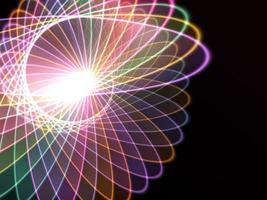 fundo de tecnologia em espiral foto