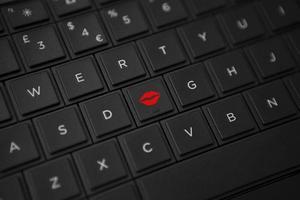 botão de beijo (mais largo) foto