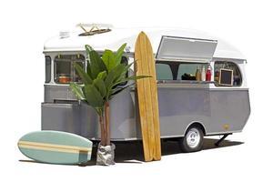 caravana de caminhão de comida isolada foto