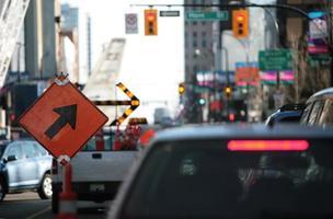 obras na estrada e hora do rush - uma má combinação foto
