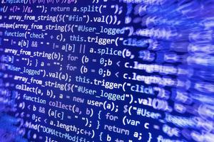 código de programação do desenvolvedor de software no computador foto