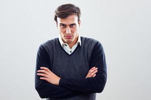empresário zangado foto