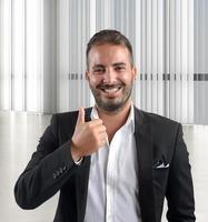 empresário feliz foto