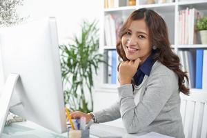 mulher de negócios indonésio foto