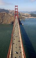 vista aérea da ponte golden gate foto