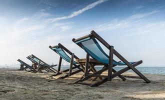 cadeiras de praia foto