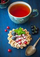 waffles belgas doces foto