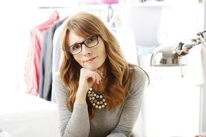 close-up de designer de moda foto