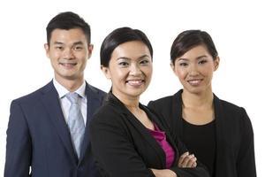 grupo de empresários asiáticos. foto