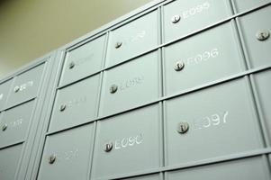 caixas de correio do escritório foto