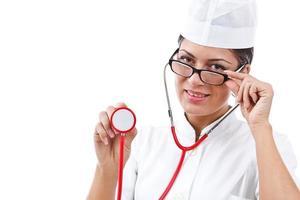 retrato de uma jovem médica foto