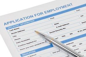 formulário de pedido de emprego foto