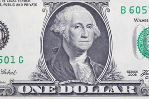 as notas de dólar para o conceito de negócios e finanças foto