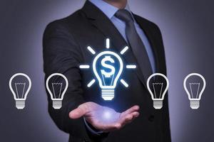 conexão de idéia de finanças futurista foto