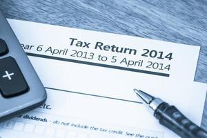 formulário de declaração fiscal 2014 foto