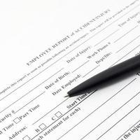 formulário de acidente de relatório de funcionário