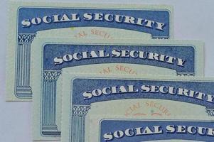 cartões de segurança social foto