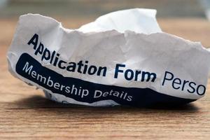 formulário de aplicação
