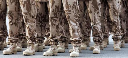 linhas de soldados foto