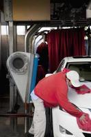 na lavagem de carros