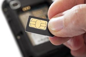 cartão SIM foto