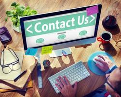 serviço de negócios on-line digital entre em contato conosco conceito foto