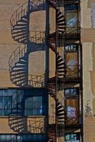 escada em espiral escada de incêndio