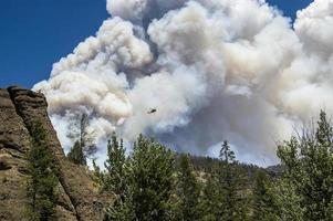 helicóptero de combate a incêndios foto