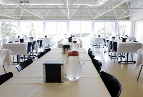 vista geral da cafeteria do escritório foto
