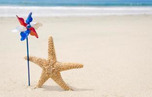 fundo patriótico dos EUA com estrelas do mar