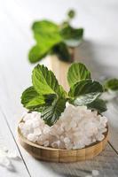 sal marinho com hortelã