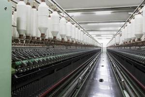 carretéis de corda de algodão foto
