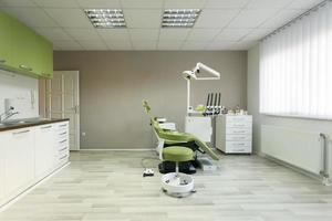 interior do consultório odontológico foto