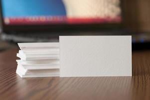 modelo de visualização de cartão de visita foto