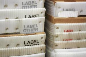 close-up de caixas de correio foto