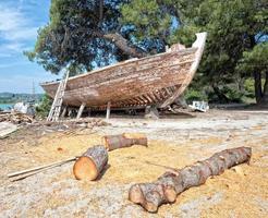 construção de barco foto