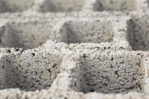 blocos de cimento closeup foto