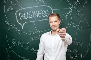 homem de negócios com aspirações foto