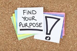encontrar o seu propósito foto