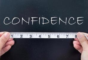 medindo a confiança foto