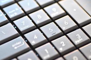 closeup de teclado de notebook foto