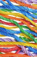pacotes de cabos de computador multicoloridos foto